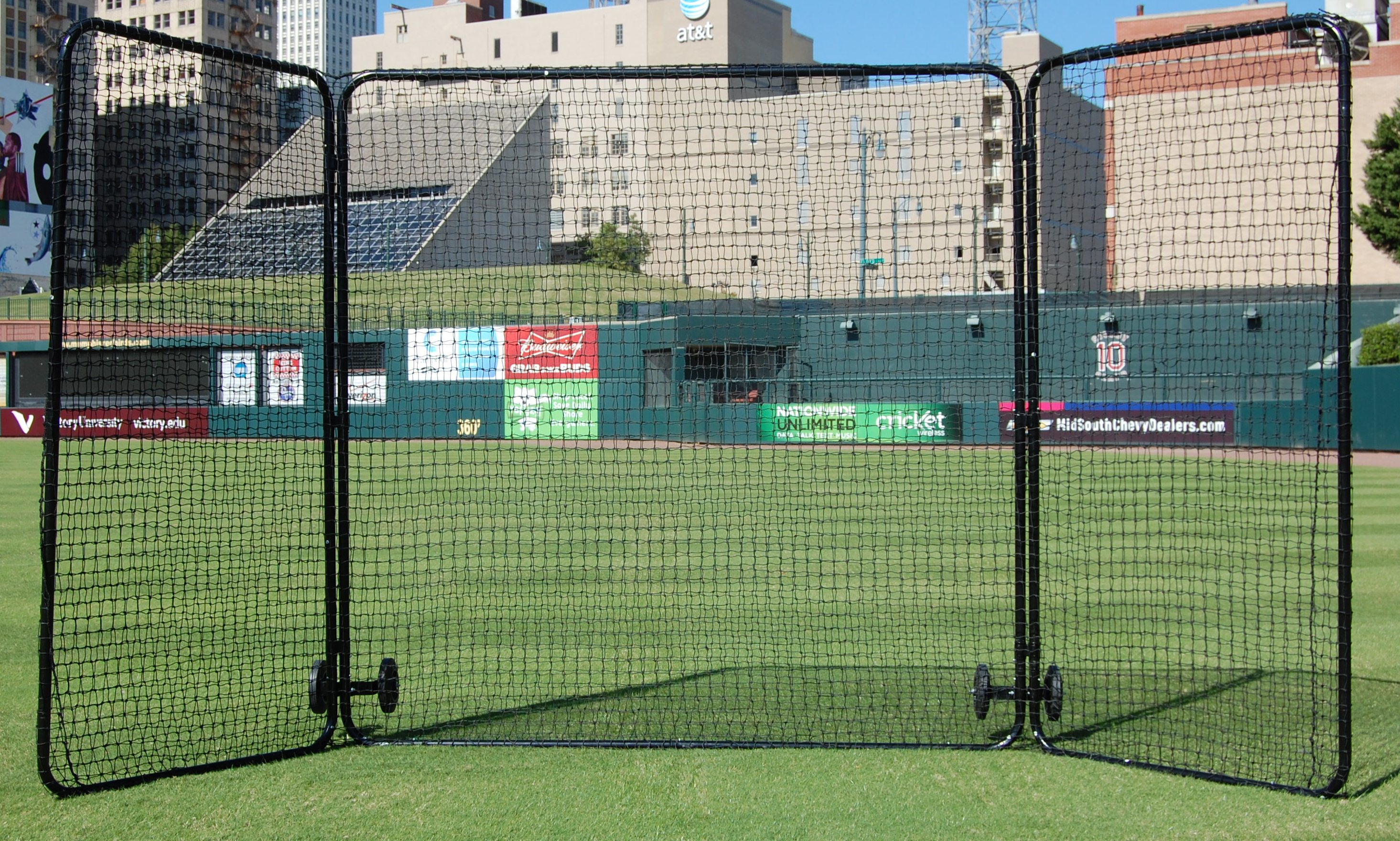 Trigon Sports Procage Premium 1st Base//Fungo Protective Screen with Net 7 x 7-Feet